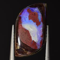 Very unique 4.32ct natural crystal Boulder Opal