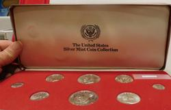 8 pc US Silver Mint Coin Collection, both 90% and 40%