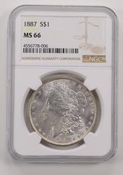 MS66 1887 Morgan Silver Dollar - NGC Graded