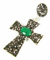 Attractive Gemstone Handmade Religious 925 S. Pendant