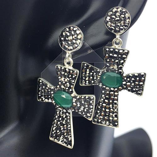 Attractive Gemstone Handmade Religious 925 S. Earrings