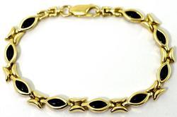 Lovely 14K and Black Onyx Bracelet