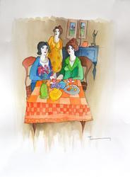 Itzchak Tarkay Awesome Original Watercolor