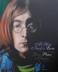 Korhonen John Lennon Original Color Pencil Drawing