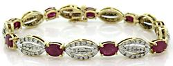 Two Tone Ruby & Diamond Bracelet