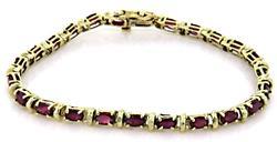 Ruby Line Bracelet in Yellow Gold