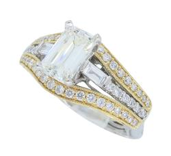 1.50CTW Emerald Cut Engagement Ring