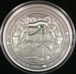 2015 Palau $20 Egyptian Eye of Horus 3oz Silver Coin
