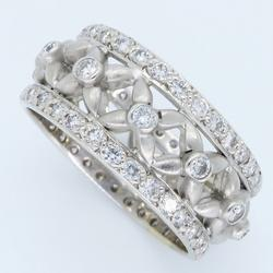 One of a Kind Eternity Style Diamond Ring, 18kt