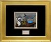 1950 PICASSO COLOR WOOD ENGRAVING WITH HAND SIGNATURE