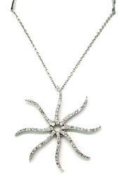 Whimsical Diamond Starfish Pendant Necklace in 18K