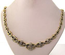 Spectacular Heavy 18K  & Diamond Necklace