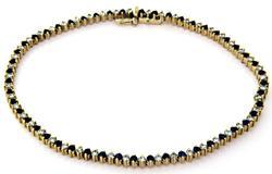Elegant Sapphire & Diamond Line Bracelet