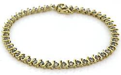 Elegant Diamond S Link Tennis Bracelet