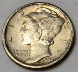 Choice 1921 D Mercury Dime