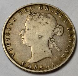 Scarce Rare Canada 1872 H 2 Bar Half Dollar
