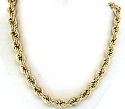 30 Inch Rope Chain in Gold