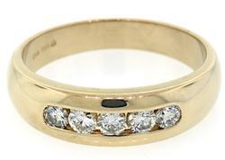 Stylish Gent 1ctw Diamond Ring, 14kt Gold