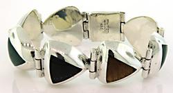 Colorful Bezel Set Gemstone Bracelet in Sterling