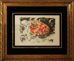 1972 RARE  MARC CHAGALL LITHOGRAPH, AFTER WINTER