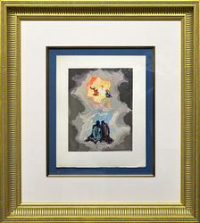 Vintage Salvador Dali Woodcut Circa 1963
