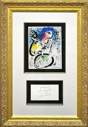 Hand Signed Marc Chagall Original Color Lithograph