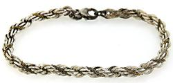 Tiffany & Co Twisted Rope Bracelet in Sterling/18K