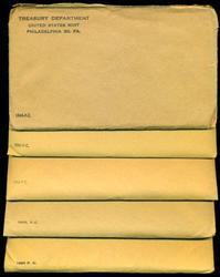 5 Silver Proof Sets 1960 to 1964 in original envelopes