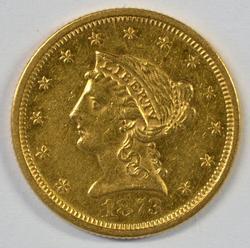 Scarcer 1873 (Open '3') $2.50 Liberty Gold Piece
