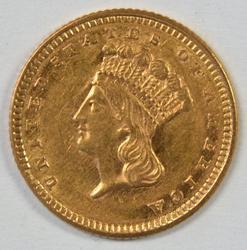 Flashy near Mint 1861 US Type 3 $1 Gold Piece