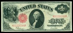 Crisp Series of 1917 Large Size $1 Legal Tender Note