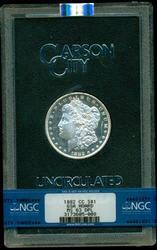 Deep Prooflike GSA 1882-CC Morgan Dollar. NGC MS63DPL