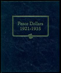 Nice Complete Set of 24 Peace Silver Dollars in album