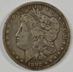 Nice key date 1892-CC Morgan Silver Dollar