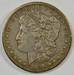 Handsome 1896-S Morgan Silver Dollar. Key date