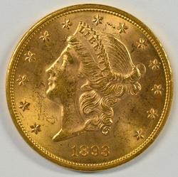 Nice BU 1893 US $20 Liberty Gold Piece. Nice