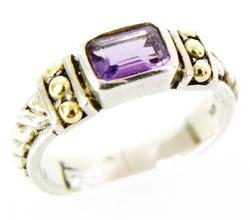 925/18K Amethyst Ring