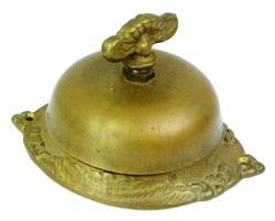 Vintage Brass Turn-Key Chiming Door Bell