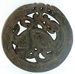 Jade Hand Carved Large Pendant