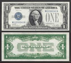 $1 1928-A SC Beautiful blue Overprint Uncirculated