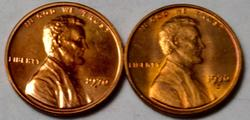 1970 S Proof and Uncirculated RED BU Small Date Lincoln