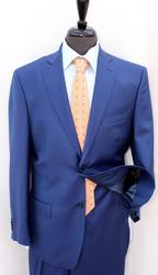 Eye Catching  2Button French Blue Color Suit By Galante