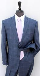 Sharp Navy Color Plait Suit, Made By Galante