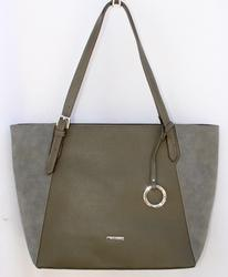 Stylish Olive Color Tote, By David Jones, Paris