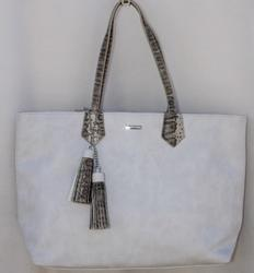 Stylish Cream Color Tote, By David Jones, Paris