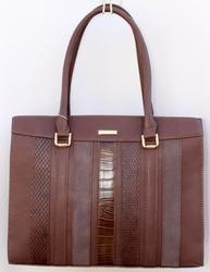 Stylish Brown Color Tote, By David Jones, Paris