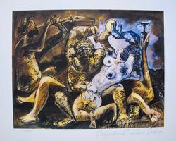 'Bacchanal' Limited Edition Color Giclee By Picasso