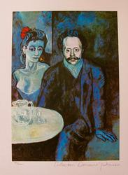 Pablo Picasso 'Couple At Cafe' Limited Edition