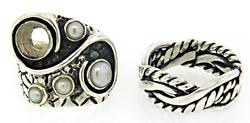 Group Lot of 2 Sterling Silver Rings