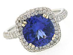 Glorious Tanzanite & Diamond Ring in 18K